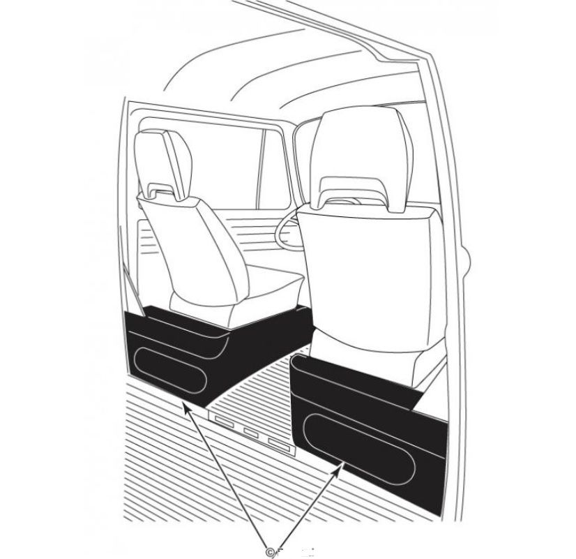 Rohože pod sedadla/pryž - Typ 2 (1976 » 79)