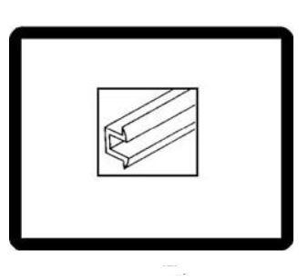 Těsnění mezi rám/sklo/boční výklopné okno - Typ 2 (» 1967)