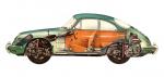 Příčka nárazníku/přední P - Porsche 356 B/C (1959 » 65)