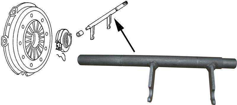 Páka ložiska spojky - Typ 2 (1967 » 70)