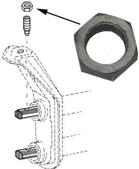 Matice šroubu kyvného ramene/přední - Typ 1/2/3/14/181 (» 2003)