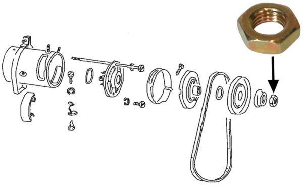 Matice řemenice alt/gen - Typ 1/3 motory (» 2003)