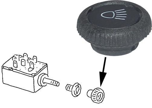 Knoflík vypínače/hlavní světla - Typ 1 (1967 »)