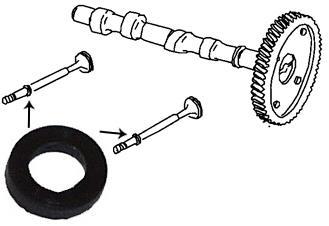 Těsnící dříku ventilu/8mm - Typ 1/3/CT/CZ motory (1960 »)