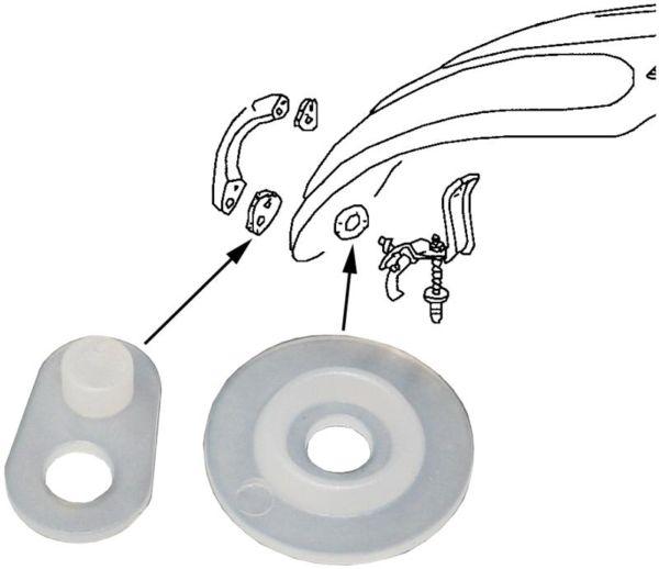 Těsnění madla přední kapoty/bílé - Typ 1 (» 1967)