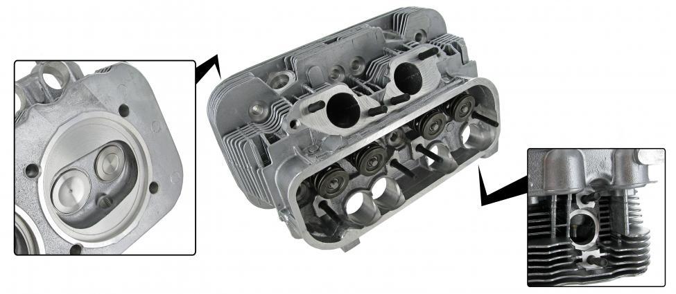 Hlava motoru komplet/dual - Typ 2/4/25/Porsche 914/4 (IV motor 2.0)