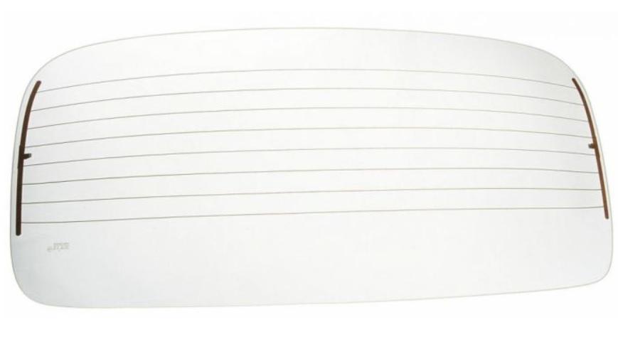 Sklo zadní čiré/vyhřívané - Typ 1 (1964 » 71 + 1977 »)