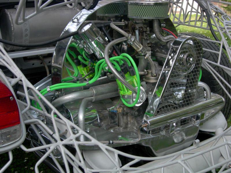 Kryt řemenic drátěný/chrom - Typ 1 motor (» 2003)