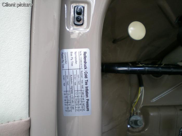 Samolepka/tlak pneumatik - Typ 1/2/3/14/25/181 (» 2003)