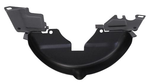 Krycí plech spodní řemenice/černý - Typ 1 motor (» 2003)