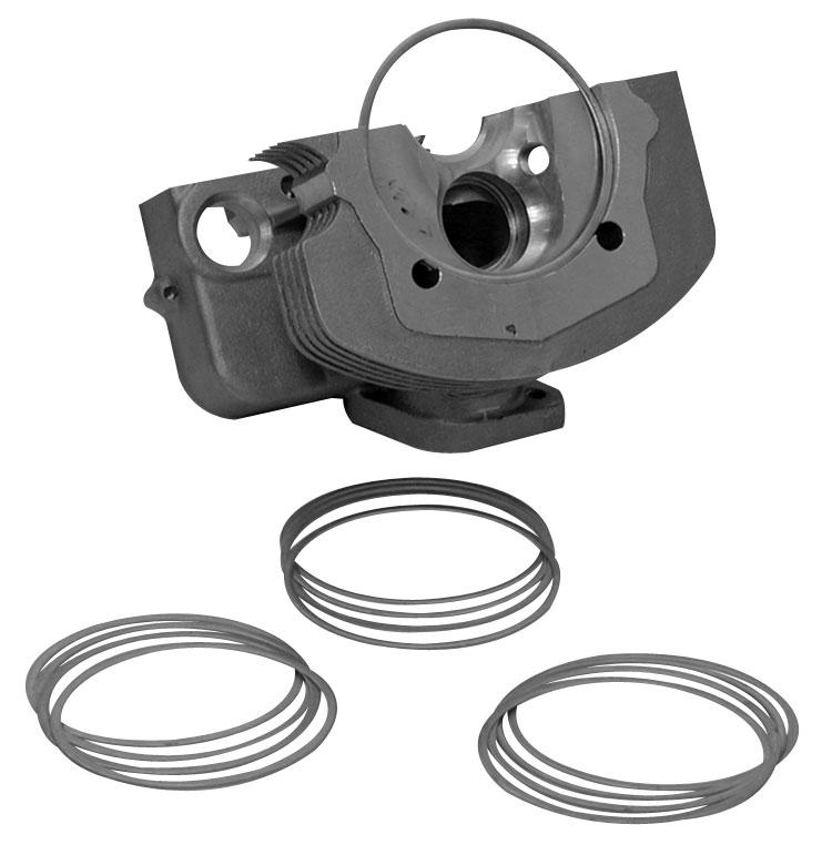 Podložky hlavy motoru/1.270mm - Typ 1/3 motory (92mm)
