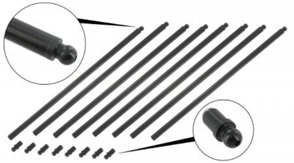 Tyčky zdvihátek ventilů 280mm/chromoly - Typ 1/3/IV/CT/CZ/WBX motory (1960 »)