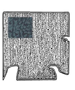 Koberec zavazadlového prostoru/černý - Typ 1 (1955 » 60)