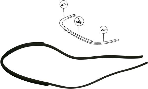 Těsnění/přední nárazník - Porsche 911/912 (1963 » 73)