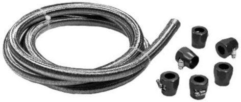 Hadice tlaková S/S+červené Alu fitinky/kit (chladič oleje)