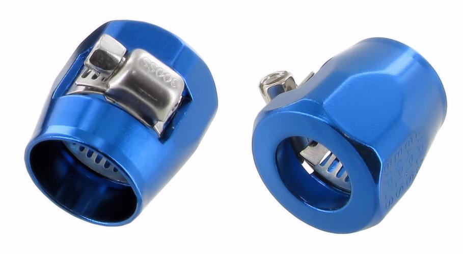 Objímky Alu 21mm/modré (hadice oleje)