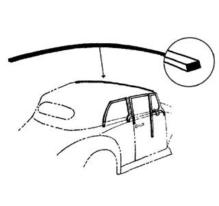 Těsnění/přední rám skla střechy - T.1/14 Cabrio (» 1969)