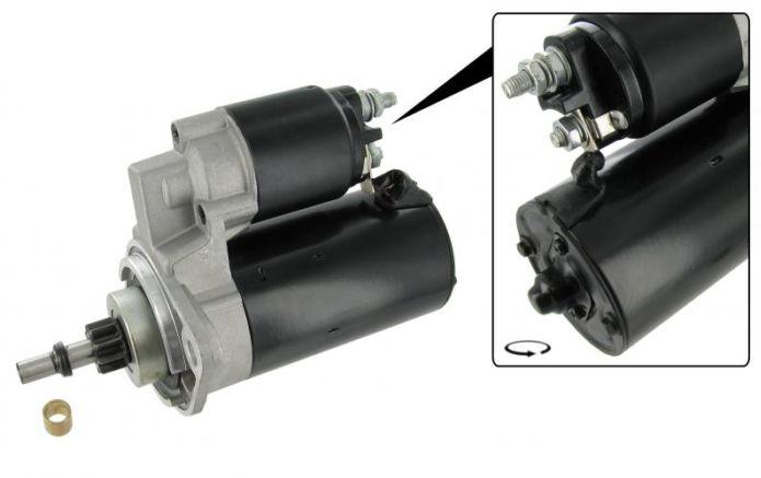 Startér motoru HD/12V - Typ 1/3 motory (1966 » 03)