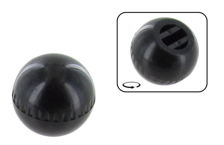 Knoflík páčky regulace topení/černý - Typ 1/3/14/34/181 (1964 » 03)