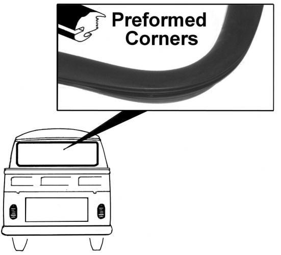 Těsnění skla OE/zadní - Typ 2 Pick-up (1965 » 67)