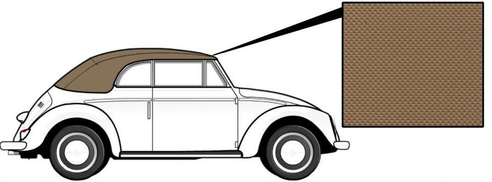 Čalounění střechy/světle hnědý vinyl - T.1 Cabrio (1966 » 72)