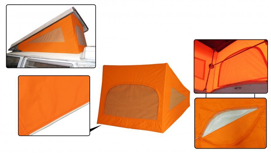 Střecha Westfalia oranžová/3 okna - Typ 2 (1967 » 74)