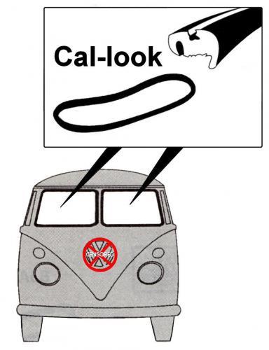 Těsnění skla Cal-look/přední L/P - Typ 2 (1955 » 67)
