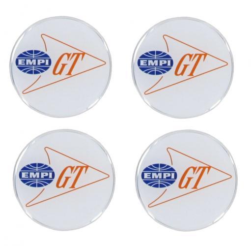 Samolepky bílé/Empi GT/krytky kol/43mm - Typ (univerzál)