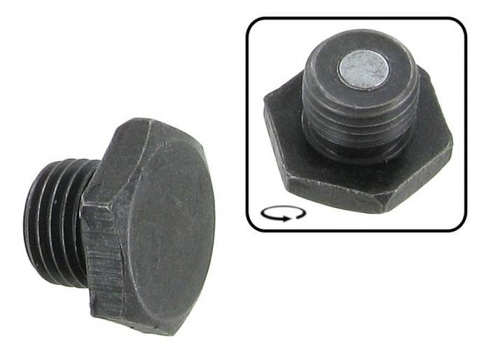 Šroub výpust oleje magnet/černý - Typ 1/3/CT/CZ motory (» 2003)