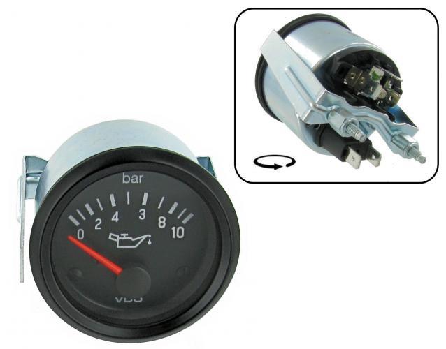 Přístroj černý/tlak oleje/10 Bar (Ø 52mm)