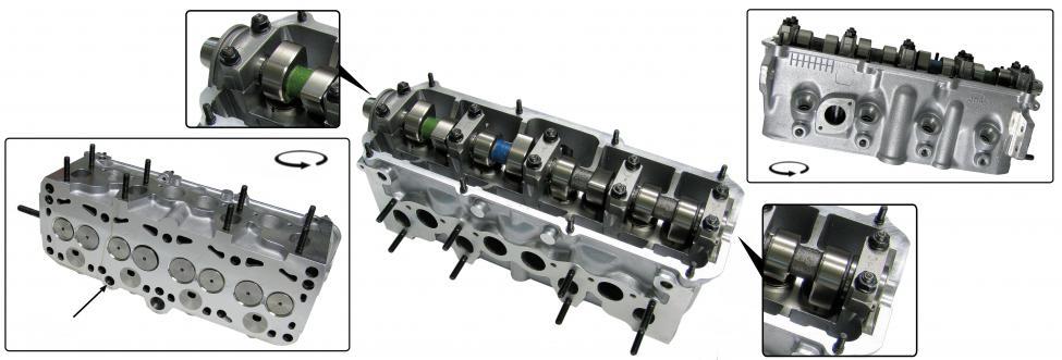 Hlava motoru komplet/1.6D - Typ 25 (1979 » 81)