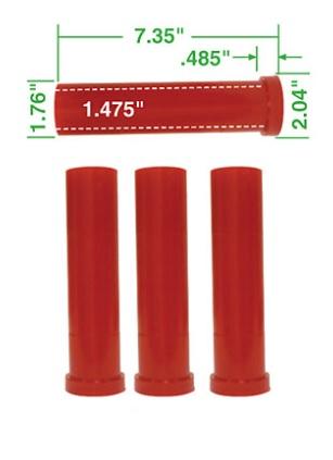 Pouzdra ramen přední 187mm/červený uretan - T.1 Buggy (#16-2045#16-2046)