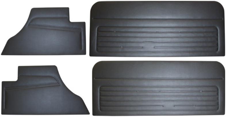 Panely dveří/černý vinyl - VW Golf (1977 » 84)