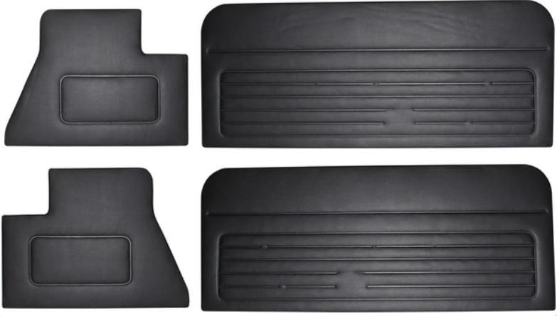 Panely dveří/černý vinyl - VW Golf Cabrio (1979 » 93)