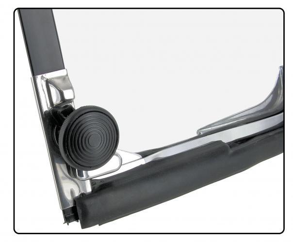 Křídlo ventilace/chrom/zadní L - Typ 2 (1967 » 79)