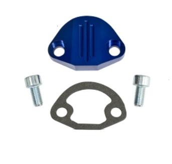 Záslepka čerpadla paliva/modré Alu/plná - Typ 1/3/CT/CZ/WBX motory (» 1992)