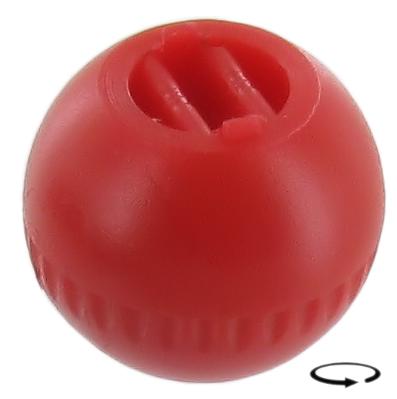 Knoflík páčky regulace topení/červený - Typ 1/3/14/34/181 (1964 » 03)