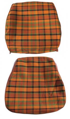 Potah sedadla oranžový/žlutá/zelená kostka - Typ 2 Westfalia (1974 » 79)