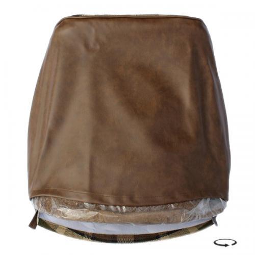 Potah sedadla hnědý/béžová kostka - Typ 2 Westfalia (1974 » 79)