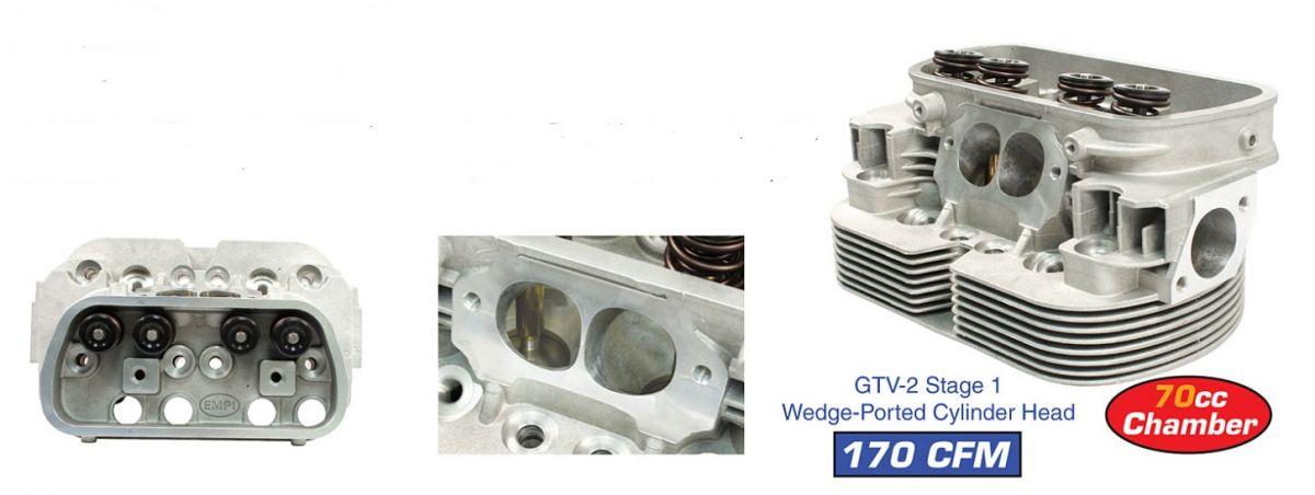 Hlavy motoru EMPI GTV-2/I dual/komplet - Typ 1/3/CT/CZ motory (40x35.5x94mm)