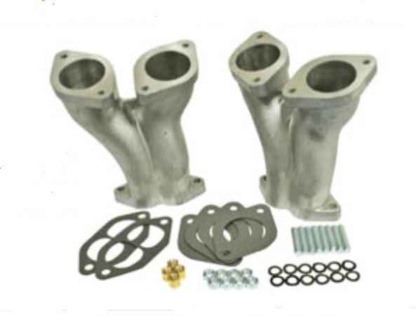 Potrubí sání dual/Weber 40-44-48IDF/DRLA/HPMX - Typ 1 motor (#98-1430-B#98-1431-B)