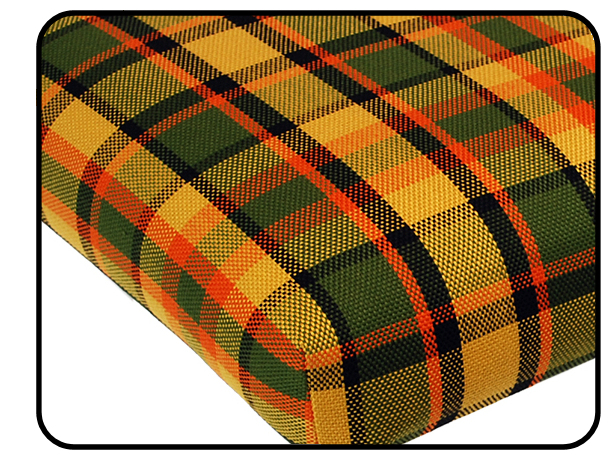 Matrace zadní 1210mm/žlutá/zelená/červená kostka - Typ 2 Westfalia (1967 » 79)
