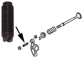 Šroub 8mm/seřízení vůle ventilu - Typ 1/3/4/CT/CZ motory (» 1983)