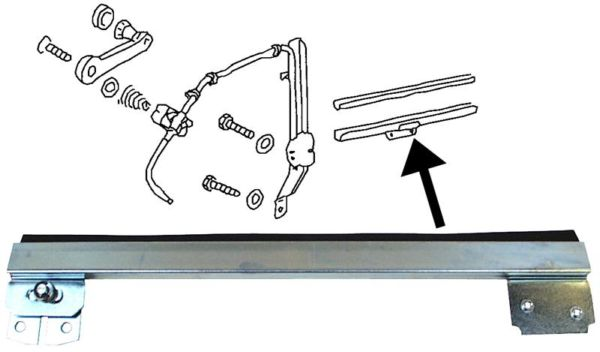 Lišta stahování skla dveří/L - Typ 1 (1964 » 68)