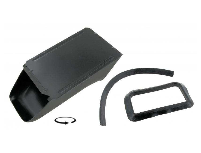 Krycí plechy chladiče oleje/černé - Typ 1 motor (1970 » 03)