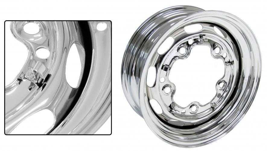 Kolo ocelové/chrom 5x205mm ET +15 (5.5x15)