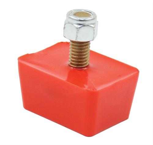 Dorazy nárazníku 15x50x50mm/červený uretan - Typ 1/Buggy (univerzál)