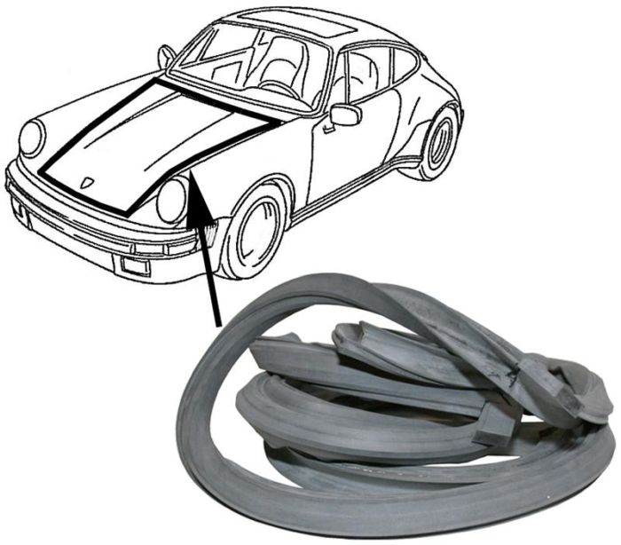 Těsnění přední kapoty - Porsche 911 (1973 » 89)