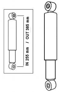 Tlumič nárazu Gas/přední/zadní - Typ 1/2/3/14/181 (1950 » 03)