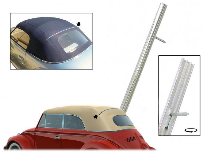 Lišta krycí Alu/horní - T.1/14 Cabrio (» 1967)